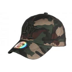 Casquette NY enfant militaire verte Kaptin Baseball Camouflage 7 à 12 ans Casquette Enfant Hip Hop Honour