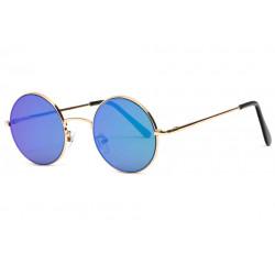 Lunettes de Soleil Miroir Rondes Bleues Homme et Femme Ocky LUNETTES SOLEIL Eye Wear