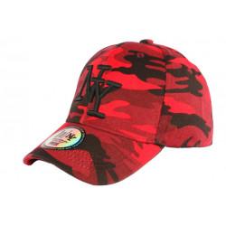 Casquette NY militaire Rouge et Noire fashion baseball Chief CASQUETTES Hip Hop Honour