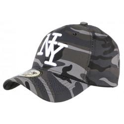 Casquette NY enfant militaire Grise Kaptin Baseball Camouflage 7 a 12 ans Casquette Enfant Hip Hop Honour