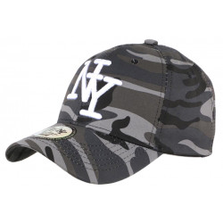 Casquette NY camouflage Gris Fashion Baseball Kaptyn CASQUETTES Hip Hop Honour