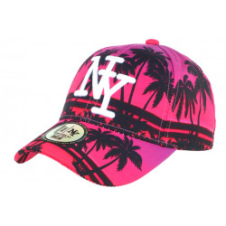 Casquette NY Rose et Noire Palmiers Fashion Baseball Tropyk CASQUETTES Hip Hop Honour