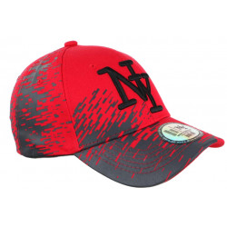 Casquette NY Rouge et Grise City Fashion Baseball Noryk CASQUETTES Hip Hop Honour