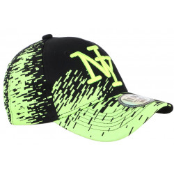 Casquette NY Noire et Jaune Fluo City Fashion Baseball Noryk CASQUETTES Hip Hop Honour