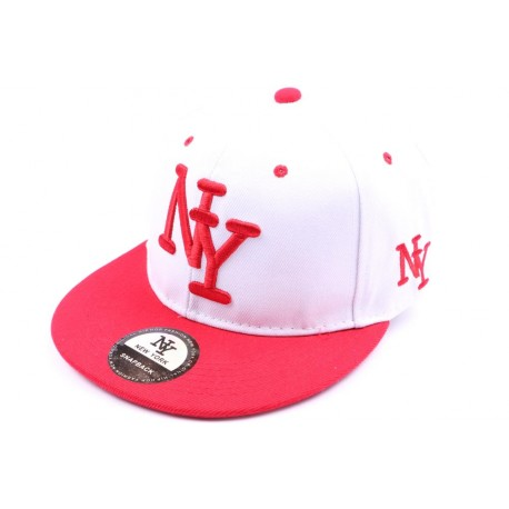 Snapback Ny blanche et visière rouge ANCIENNES COLLECTIONS divers