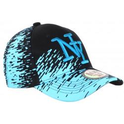 Casquette NY Noire Tags Bleu Ciel City Fashion Baseball Noryk CASQUETTES Hip Hop Honour