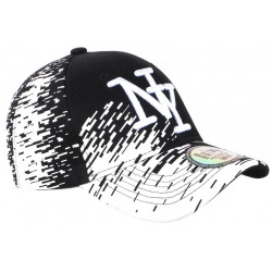 Casquette NY Noire Tags Blancs City Fashion Baseball Noryk CASQUETTES Hip Hop Honour