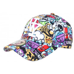 Casquette NY Originale Blanche et Bleue Fashion Baseball Big City CASQUETTES Hip Hop Honour