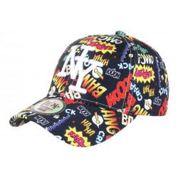 Casquette NY Noire et Jaune Originale Streetwear Baseball Bang Boum CASQUETTES Hip Hop Honour