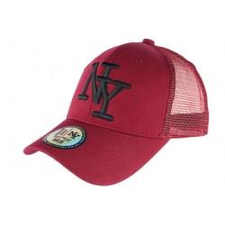 Casquette Enfant Rouge Noire NY Baseball Trucker Gibz 7 a 12 ans Casquette Enfant Hip Hop Honour