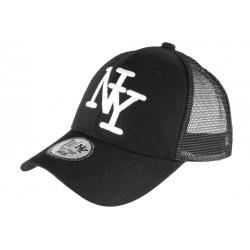Casquette Enfant Noire Filet NY Baseball Trucker Gibz 7 a 12 ans Casquette Enfant Hip Hop Honour