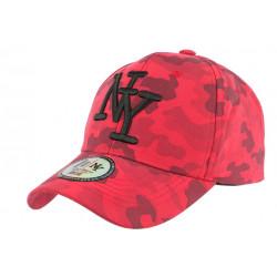 Casquette NY Militaire Rouge et Noire Fashion Baseball Kaska CASQUETTES Hip Hop Honour