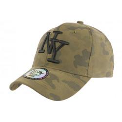 Casquette NY Militaire Verte Kaki et Noire Fashion Baseball Kaska CASQUETTES Hip Hop Honour