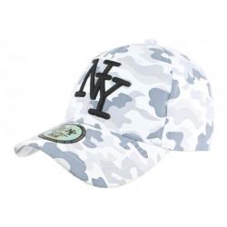 Casquette NY Militaire Blanche et Grise Fashion Baseball Kaska CASQUETTES Hip Hop Honour