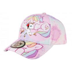Casquette Fille Licorne Blanche et Rose Fashion Baseball Liny 6 a 12 ans Casquette Enfant Hip Hop Honour