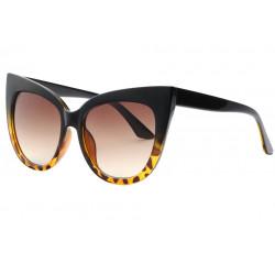 Grandes Lunettes de Soleil Papillon Marron Ecailles Vintage Design Soty LUNETTES SOLEIL Eye Wear