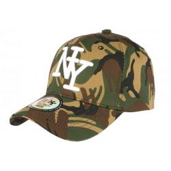 Casquette NY camouflage militaire Kaki et marron Baseball Kaptyn CASQUETTES Hip Hop Honour