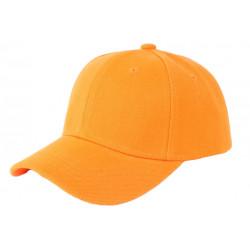 Casquette Enfant Orange Fashion Baseball Kizly de 6 a 11 ans Casquette Enfant Nyls Création
