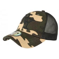 Casquette Filet Camouflage Verte Noire Marron Baseball Trucker NY Gybz CASQUETTES Hip Hop Honour