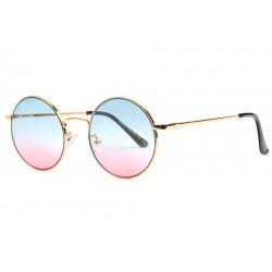 Lunettes Soleil Rondes Rose et Bleu Tendance Obladi LUNETTES SOLEIL Eye Wear