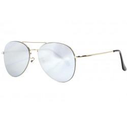 Lunettes de Soleil Aviateur Miroir Gris Argent Classe Flying LUNETTES SOLEIL Eye Wear