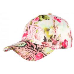 Casquette NY Rose et Verte a Fleurs Baseball Fashion Spring CASQUETTES Hip Hop Honour