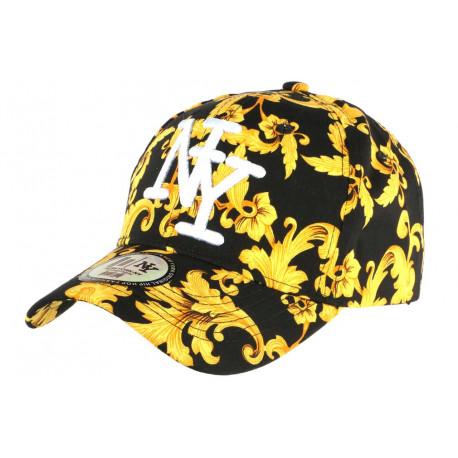 Casquette Enfant Noire et Jaune Streetwear Baseball NY Bolga 7 à 12 ans Casquette Enfant Hip Hop Honour
