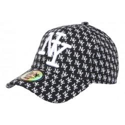 Casquette NY Noire et Blanche Design New York Fashion Baseball Avenue CASQUETTES Hip Hop Honour