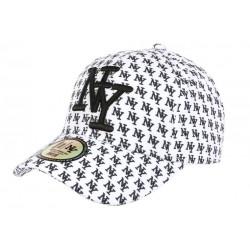 Casquette NY Blanche et Noire Graphisme New York Fashion Baseball Avenue CASQUETTES Hip Hop Honour