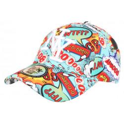 Casquette NY Turquoise et Rouge Originale Streetwear Baseball Bang Boum CASQUETTES Hip Hop Honour