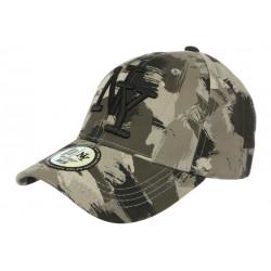 Casquette NY Camouflage Armee Fashion Grise et Noire Baseball Warry CASQUETTES Hip Hop Honour