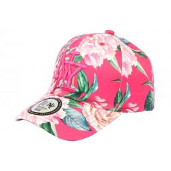 Casquette Enfant Rose a Fleurs Fashion Baseball NY Capri de 7 à 12 ans Casquette Enfant Hip Hop Honour