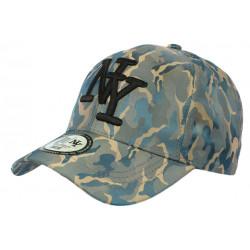 Casquette NY militaire bleu et verte Baseball Tendance Kaptain CASQUETTES Hip Hop Honour