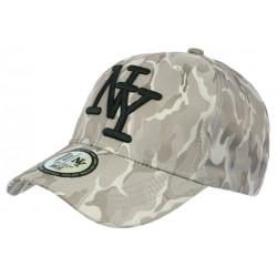 Casquette NY militaire Grise Classe Baseball Tendance Kaptain CASQUETTES Hip Hop Honour