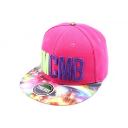 Casquette Snapback YMCMB Rose et Visière Cosmos