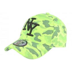 Casquette NY Militaire Jaune Fluo et Noire Fashion Baseball Kaska CASQUETTES Hip Hop Honour