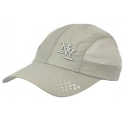 Casquette NY Sportswear Grise Filet Tendance Baseball Zatyl CASQUETTES Hip Hop Honour