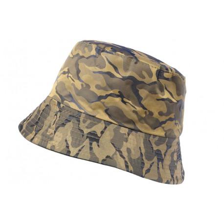 Chapeau Bob Militaire Dore et Bleu Camouflage Armee Fashion Boby BOB Hip Hop Honour