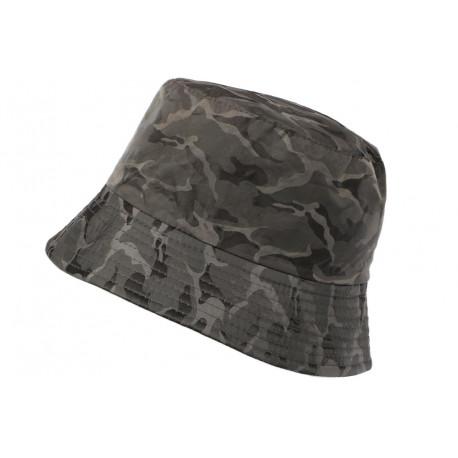 Chapeau Bob Militaire Gris et Noir Camouflage Armee Tendance Boby BOB Hip Hop Honour