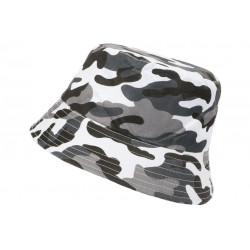 Chapeau Bob Militaire Blanc et Noir Camouflage Armee Fashion Boby BOB Hip Hop Honour