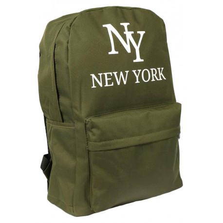Sac a Dos NY Vert Streetwear Confort et Leger New York Studer Sac à Dos Hip Hop Honour