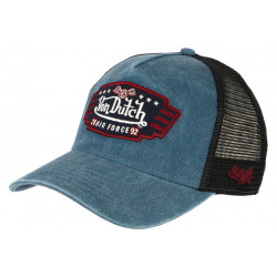 Casquette Von Dutch Bleue Trucker Noir Baseball Retro Air Force Top CASQUETTES VON DUTCH