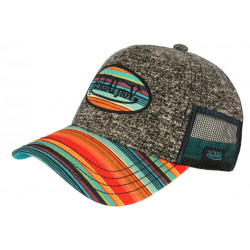 Casquette Von Dutch Grise et Multicolore Originale Baseball Custom Atru CASQUETTES VON DUTCH