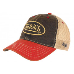Casquette Von Dutch Bleue Visiere Rouge Retro Baseball Trucker Mac CASQUETTES VON DUTCH