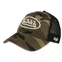 Casquette Von Dutch Camouflage Filet Noir Baseball Trucker Army CASQUETTES VON DUTCH