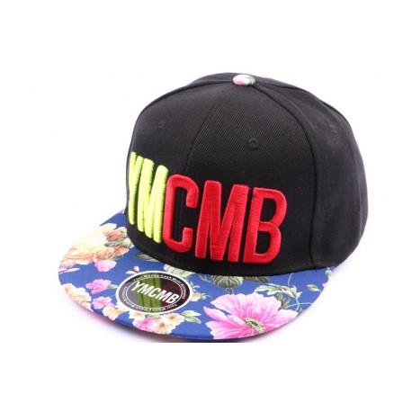 Casquette Snapback YMCMB Noir et visière florale