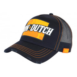 Casquette Von Dutch Bleue et Orange Fast Racing Baseball Arac CASQUETTES VON DUTCH