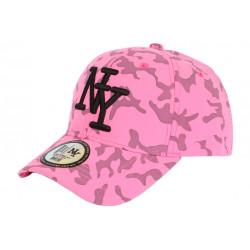 Casquette Enfant Camouflage Rose Fluo Armée Baseball Kyska 7 a 12 ans Casquette Enfant Hip Hop Honour