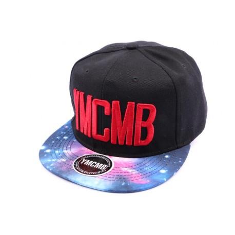 Casquette Snapback YMCMB Noir et visière façon cosmos