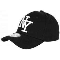 Casquette NY Noire et Blanche Tendance Baseball Sticker Original Stazky CASQUETTES Hip Hop Honour